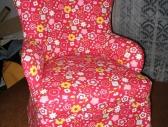 Fotel w kwiatuszki