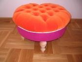 Puf - pomarańczowo-różowy
