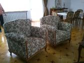 Fotele żakardowe kwiaty
