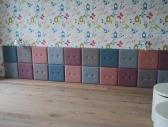 panele tapicerowane - apartament na Wilczej